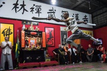 Exibição de Kung Fu
